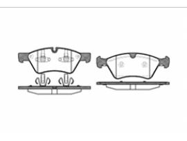 Колодки тормозные дисковые передние, комплект 1179.00                      Remsa