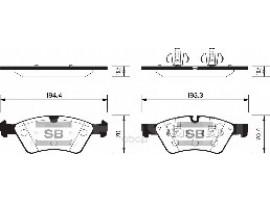 Колодки тормозные дисковые, комплект SP2189
