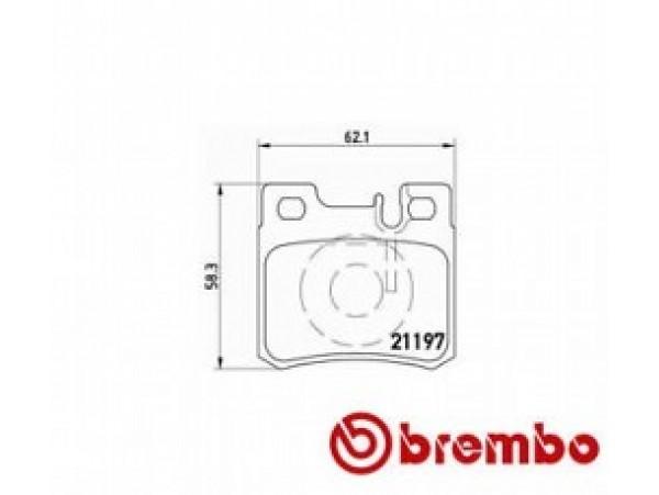 Колодки тормозные дисковые задние, комплект P50009                       Brembo