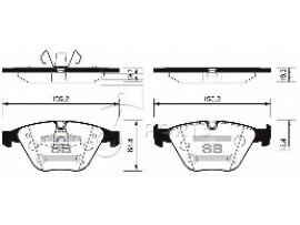 Колодки тормозные дисковые, комплект SP2210