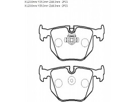 Колодки тормозные задние комплект HP5188                HSB