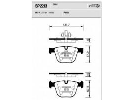 Колодки тормозные задние SP2213