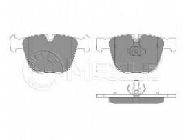Колодки тормозные дисковые задние, комплект 025 237 3017      MEYLE