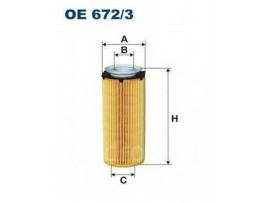Фильтр масляный двигателя OE 672/3            FILTRON
