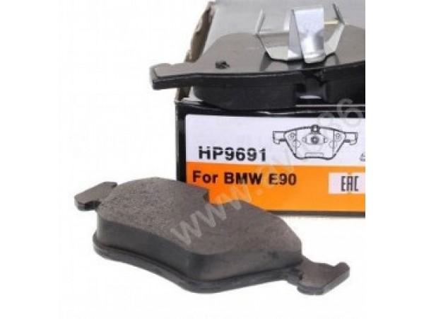 Колодки тормозные дисковые передние, комплект HP9691                 HSB