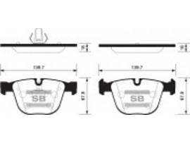 Колодки тормозные дисковые, комплект SP2164