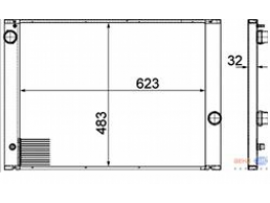 Радиатор охлаждения двигателя 8MK 376 753-591  Behr-Hella