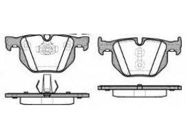 Колодки тормозные дисковые задние, комплект 0381.61                REMSA