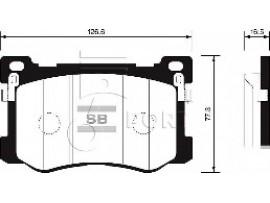 Колодки тормозные дисковые, комплект SP1547