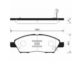 Колодки тормозные дисковые, комплект SP2084