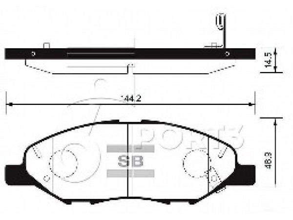 Колодки тормозные дисковые, комплект SP1383