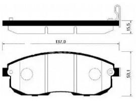 Колодки тормозные дисковые передние, комплект HP3005            HSB