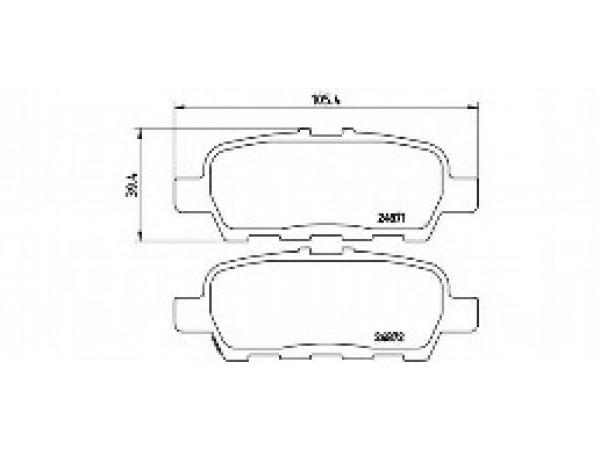 Колодки тормозные дисковые задние, комплект HP5162           HSB