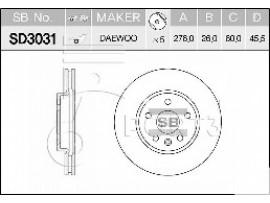 Диск тормозной передний SD3031