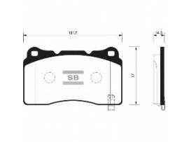 Колодки тормозные дисковые, комплект SP2119